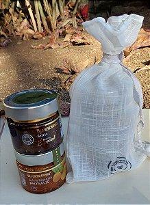 Kit de Santa Geleias Orgânicas Blaszkowsky na Bag de Linho