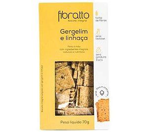 Biscoito Fibratto Gergelim e linhaça