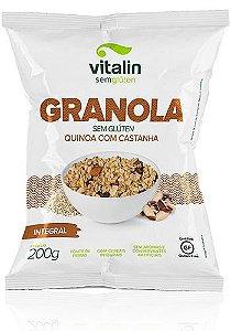 Granola Quinoa com Castanha Integral Vitalin s/ glúten