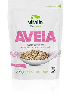 Aveia Flocos Quinoa com Frutas Vermelhas Integral Vitalin