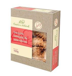 Biscoito Integral de Amendoim Caseiro e Natural 100g