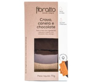 Biscoito Fibratto Cravo, Canela e Chocolate