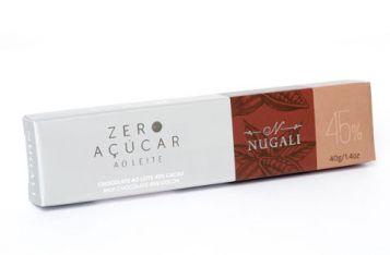 Tablete Zero Açúcar ao Leite Nugali