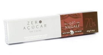 Tablete Zero Açúcar Amargo 70% Cacau Nugali