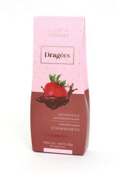 Dragée Morango com Chocolate ao Leite Nugali