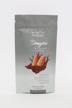 Dragée Amêndoas com Chocolate ao Leite Zero Açúcar Nugali