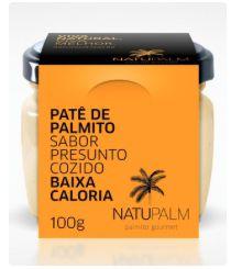 Patê de Palmito Natupalm Sabor Presunto Cozido 100g