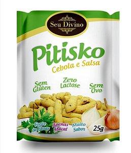 Snack Pitisko Cebola e Salsa 25g - Seu Divino Sem Glúten, Lactose e Ovo