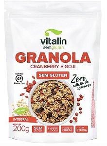 Granola Cranberry e Goji Zero Adição de Açúcar 200g
