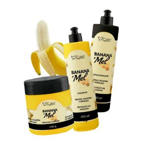 Kit Linha Capilar Banana e Mel Suave Fragrance