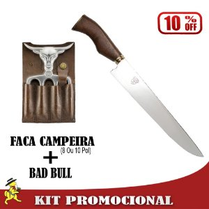 Kit Faca Campeira + Bad Bull