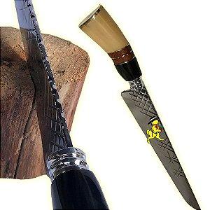 Faca Churrasqueiro Grossa 4mm Inox