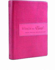 Bíblia Da Vovo. Nova Versão Internacional. Cereja/Rosa