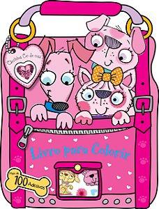 100 Cãezinhos Cor-De-Rosa Para Colorir