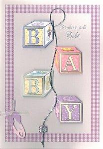 Cartão Nascimento - Handmade Beauty 64045