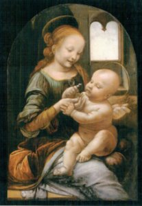 Cartão Madonna and Child with Flowers