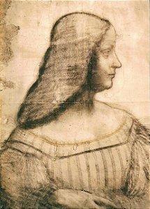 Cartão Portrait of Isabella d'Este