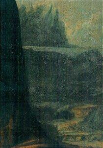 Cartão Mona Lisa Landscape Detail