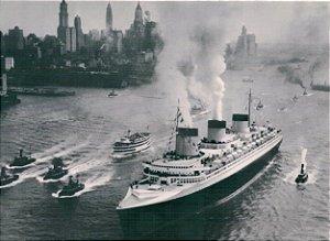 Cartão S.S. Normandie, New York, 1935