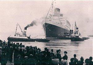 Cartão R.M.S Queen Elizabeth, Southampton, 1946