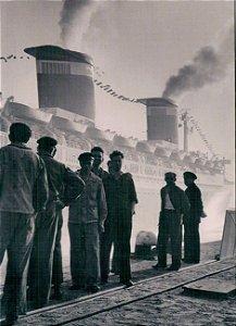 Cartão S.S United States, Le Havre, France, 1952