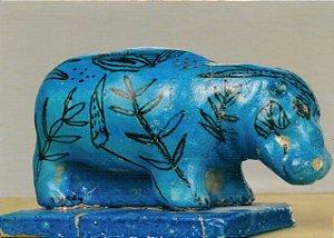 Cartão Statuette of a Hippopotamus