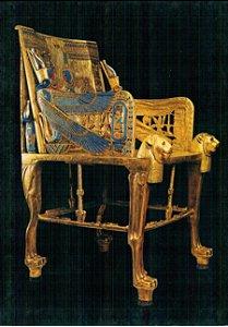 Cartão Tutankhamun's throne
