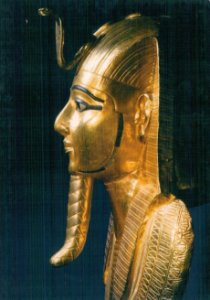 Cartão Gold funerary mask from Psusennes I's tomb