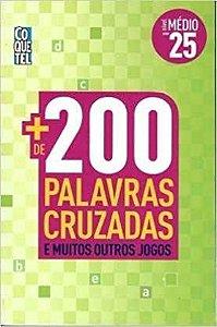 Mais De 200 Palavras Cruzadas - Livro 25 - Nivel Medio