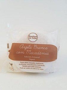 SABONETE NUTRITIVO DE ARGILA BRANCA COM MACADÂMIA 100G