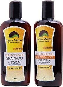 Combinado Luminosidade - Shampoo + Condicionador Camomila Terra Minas Cosméticos