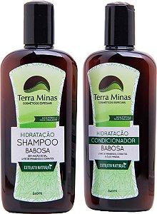 Combinado Hidratação - Shampoo + Condicionador Babosa Terra Minas Cosméticos