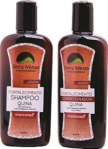 Combinado Fortalecimento - Shampoo + Condicionador Quina Terra Minas Cosméticos
