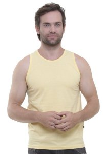 Camiseta Regata Oitavo Ato Amarelo Crema