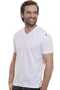 Camiseta Decote V Branco