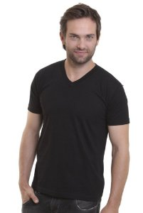 Camiseta Decote V Oitavo Ato Preto