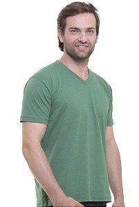 Camiseta Decote V Oitavo Ato Verde Militar