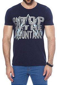 Camiseta OItavo Ato Mountain Azul Marinho