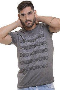 Camiseta  Básica Oitavo Ato Marmorizada Wash Grey