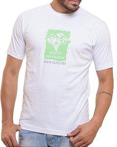 Camiseta Básica Oitavo Ato Cantareira Oxigen Branca