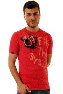 Camiseta Oitavo Ato Fck The System Vermelha