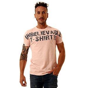 Camiseta Oitavo Ato Unbelievable Creme Rosê