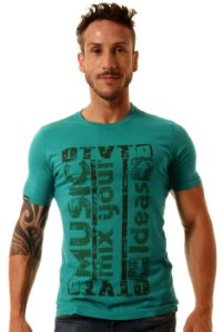 Camiseta Oitavo Ato Music Mix Mint Green