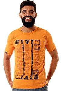 Camiseta Oitavo Ato Music Mix Laranja Urubin