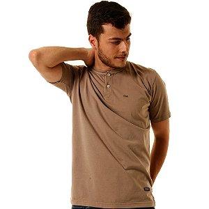 Camiseta Oitavo Ato Henley  Caqui Stone