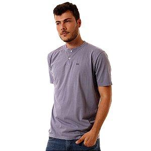 Camiseta Oitavo Ato Henley  Cinza Stone
