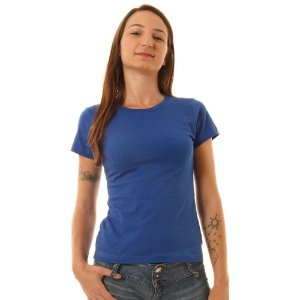 Camiseta Básica Baby Look Oitavo Ato Azul