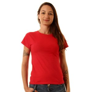 Camiseta Básica Baby Look Oitavo Ato Vermelho