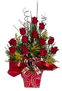 Arranjo de Rosas Vermelhas Clássico