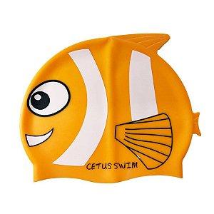 Touca De Natação Silicone Peixe Laranja - Cetus